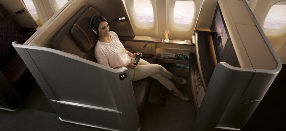 Singapore Airlines - Første klasse - Retrofitted 777-300ER