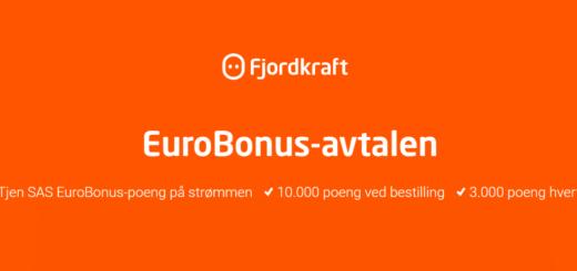Fjordkraft eurobonus kampanje